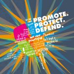 Cover of our Promote, Protect, Defend report