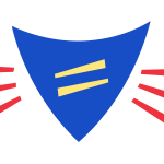 A shield with an equals sign in the middle, with lines around the shield for emphasis. The whole image is made of basic shapes.