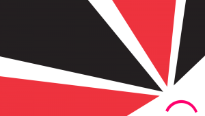 Black and red triangles pointing towards a sad mouth in the bottom right of the image.