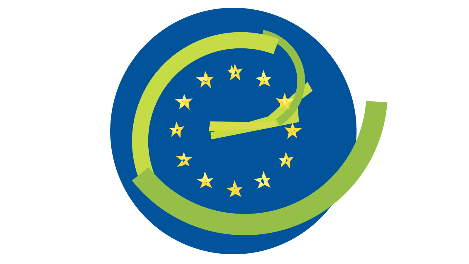 The logo of the Council of Europe built out of simple shapes.