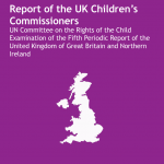 Cover of UK Children's Commissioners' report on the UN Committee on the Rights of the Child's Fifth Periodic Report on the UK.