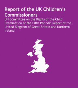 Cover of UK Children's Commissioners' report on the UN Committee on the Rights of the Child's Fifth Periodic Report on the UK..