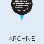 Cover for archive material from our office.