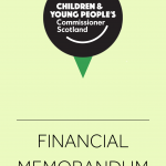 Cover for the Commissioner's Financial Memorandum.