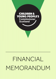 Cover for the Commissioner's Financial Memorandum.