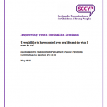 Cover of the Improving Youth Football in Scotland cover