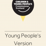 Cover for young people's versions of material our office has created.