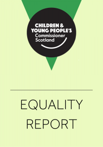Cover of our equality report.