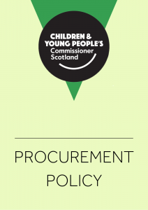 Cover for our procurement policy.