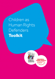 The cover of our Children's Human Rights Defenders toolkit.