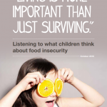 """The cover of our research publication """"Living is more important than just surviving""""."""