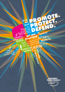Cover of our Promote, Protect, Defend report.