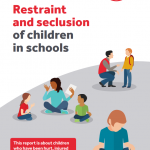 Cover of our restraint and seclusion report.