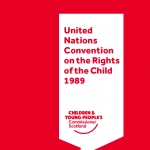 Front cover of our UNCRC red pocketbook.