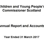 Cover of Commissioner's annual report and accounts for year ended 31 March 2017.