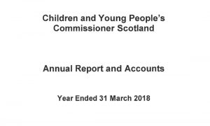 Cover of Commissioner's annual report and accounts for year ended 31 March 2018.