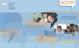 Cover for Commissioner's Annual Accounts for year ended 31 March 2006.