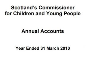 Commissioner's annual report and accounts for year ended 31 March 2010.