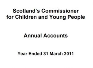 Cover of Commissioner's annual report and accounts for year ended 31 March 2011.