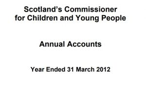 Cover of Commissioner's annual report and accounts for year ended 31 March 2012.