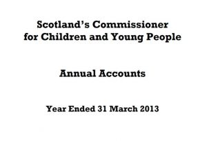 Cover for Commissioner's Annual Accounts for year ended 31 March 2013.