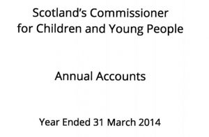 Cover for the Commissioner's Annual Accounts for year ended 31 March 2014.