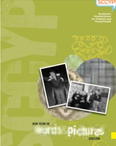 Cover for the Commissioner's Annual Report for 2007/08