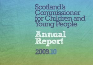 Cover for the Commissioner's Annual Report for 2009/10