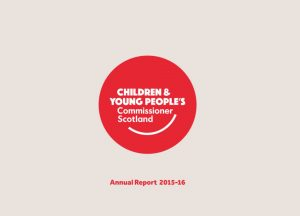 Cover for Commissioner's Annual Report for 2015-16.