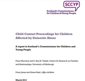 """Cover for """"Child Contact Proceeding for Children Affected by Domestic Abuse"""""""