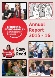 Cover for our Annual Report 2015-2016 (Easy Read version)