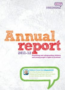 Front cover of our annual report 2011-2012