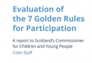 Cover of an evaluation of our 7 Golden Rules for Participation.