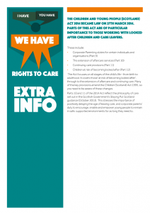 The cover of our extra information on rights to care.