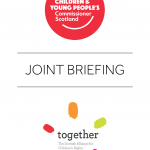 Cover for joint briefings of the Commissioner and Together Scotland.