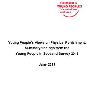 Cover of the Summary findings for Young People's Views of Physical Punishment.