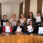 Bruce Adamson and a team of young advisors at the Scottish Parliament for the launch of our strategic plan.