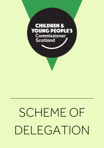 The Cover of our Scheme of Delegation