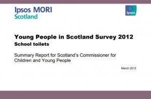 Cover for summary report on Ipsos MORI's Young People in Scotland Survey 2012 findings on school toilets