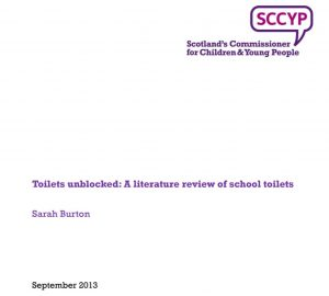 """Cover of """"Toilets unblocked: A literature review of school toilets"""""""