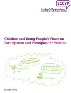 """Cover for """"Children and Young People's Views on Participation and Principles for Practice"""""""