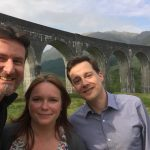The Commissioner and his team by the Glenfinnan Viaduct.