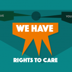 Graphic reading 'We have rights to care.'