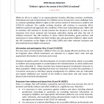 """Cover for ENOC statement """"Children's rights in the context of the COVID-19 outbreak"""""""