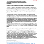 Cover of our response to the Joint Committee on Human Rights.