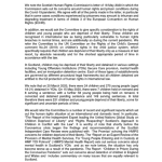 Image of our letter to the Justice Committee.