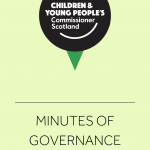 Cover for minutes of Governance meetings.