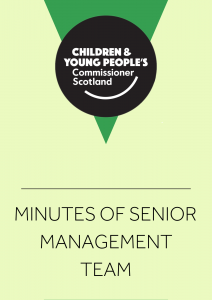 Cover for minutes of the Senior Management Team.