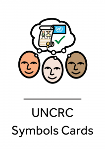Cover for our UNCRC Symbols Cards.