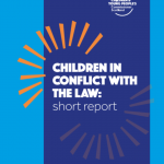 Cover of our short report on children in conflict with the law.
